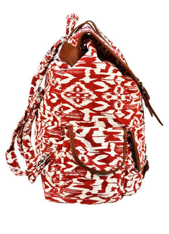 Вместительный женский городской рюкзак красный - Фото 3