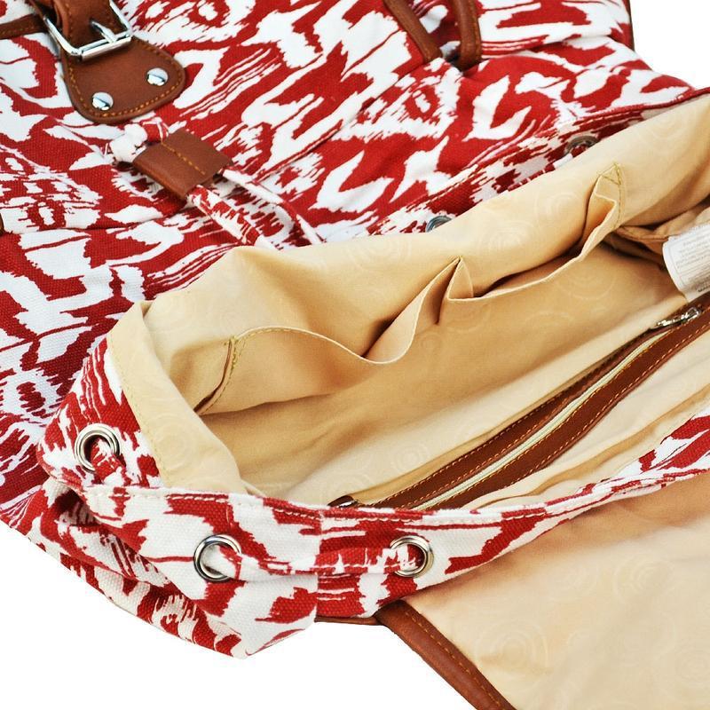 Вместительный женский городской рюкзак красный - Фото 6