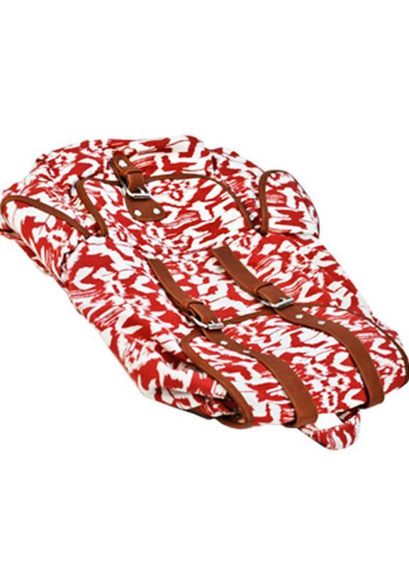 Вместительный женский городской рюкзак красный - Фото 7