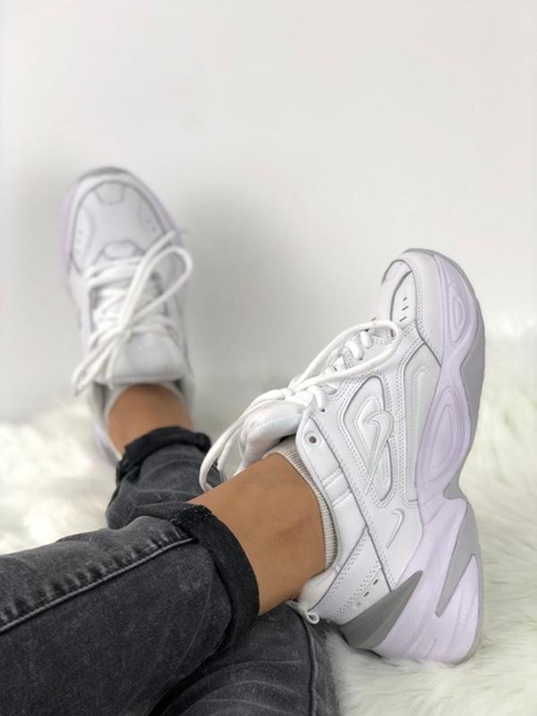 Nike m2k tekno white кроссовки - Фото 6