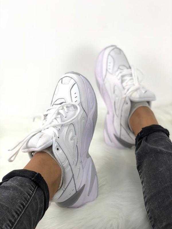 Nike m2k tekno white кроссовки - Фото 7