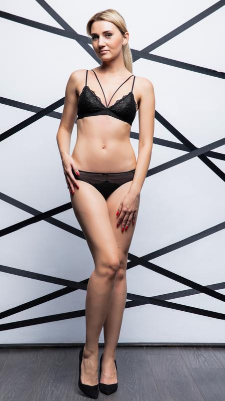 Кружевной черный комплект белья. бралетт - Фото 4