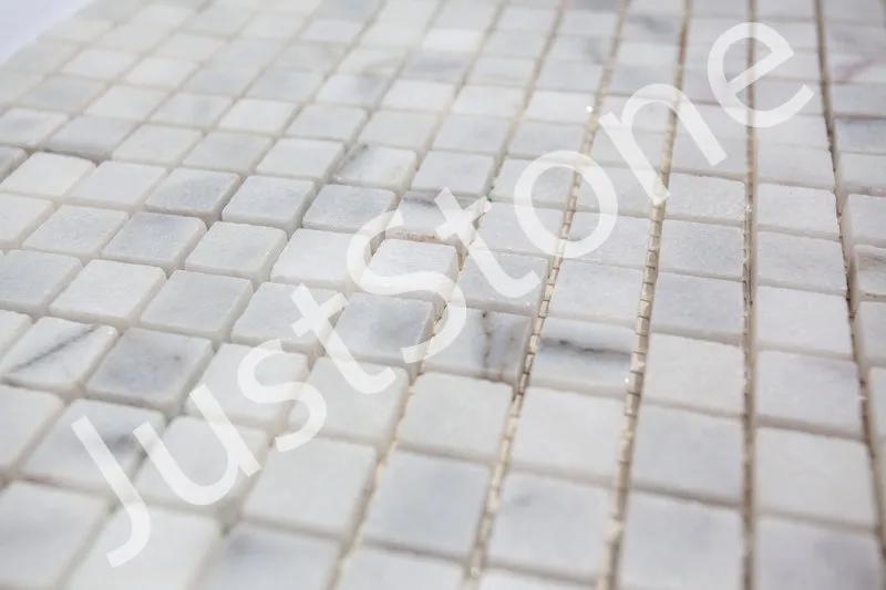 Бело-серая Мраморная Мозаика Полированная МКР-4П (15х15) - Фото 2