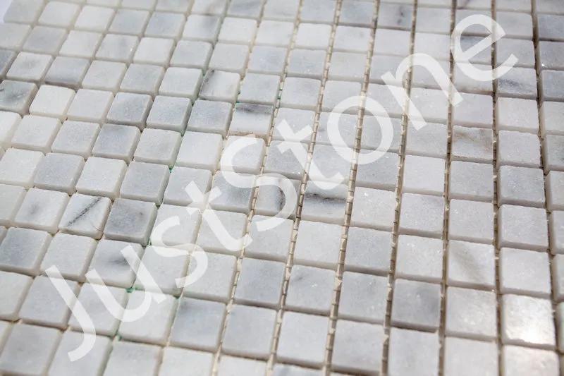 Бело-серая Мраморная Мозаика Полированная МКР-4П (15х15) - Фото 4