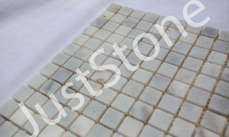 Бело-серая Мраморная Мозаика Полированная МКР-4П (15х15) - Фото 3