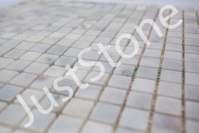 Бело-серая Мраморная Мозаика Полированная МКР-4П (15х15) - Фото 5