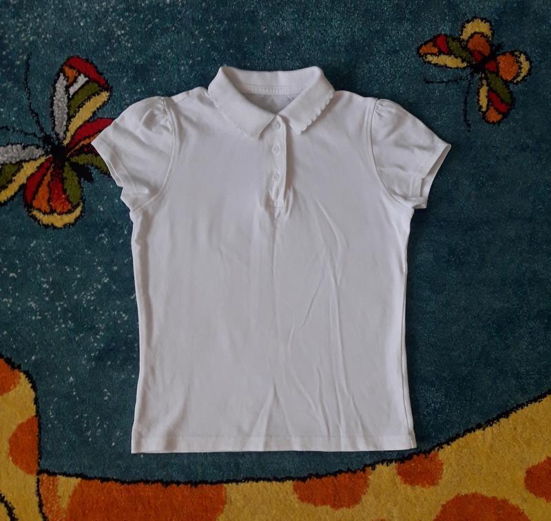 Белая школьная футболка george, р. 135-140, на 9-10 лет