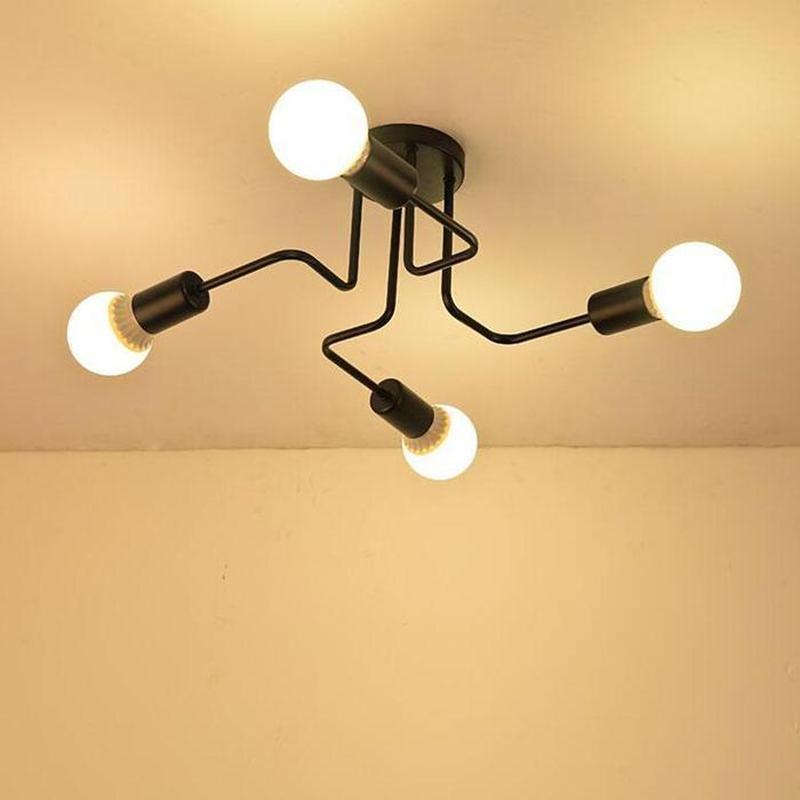 Люстра LOFT Паук 4 лампы, металл Лофт - Фото 3