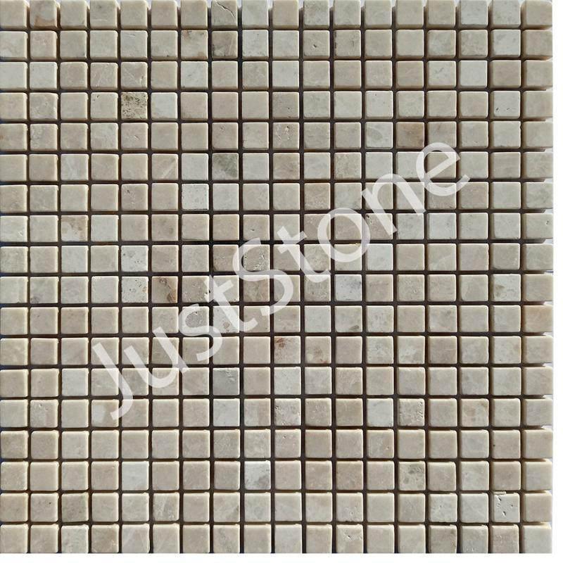Кремовая-New Мозаика из мрамора Матовая МКР-4СВ (15х15)