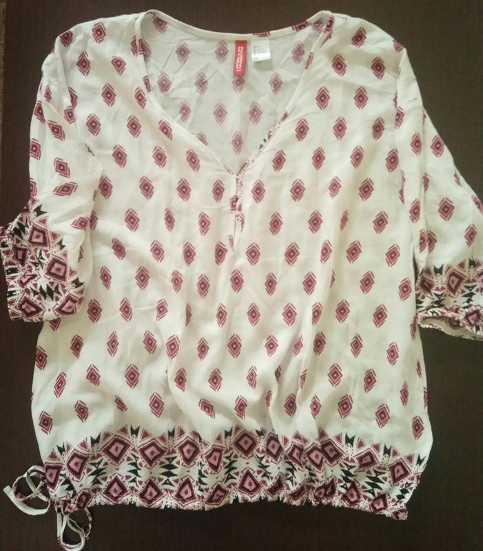 Лёгкая блуза, кофточка с орнаментом, молодежная одежда