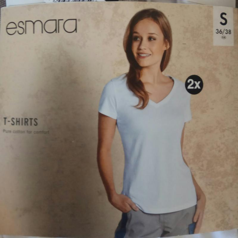 Базовая хлопковая футболка, комплект 2 шт