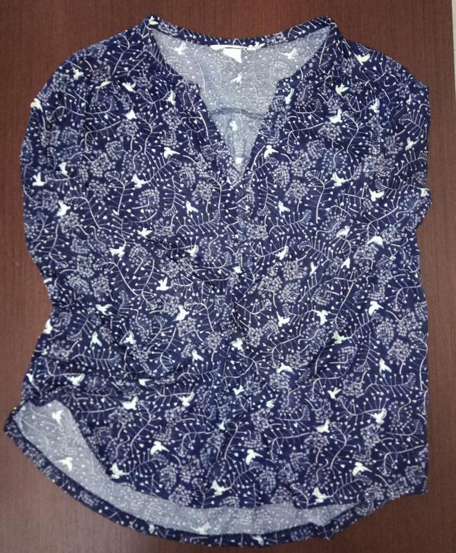 Трикотажная кофточка, блуза, рубашка в принт, молодежная одежда