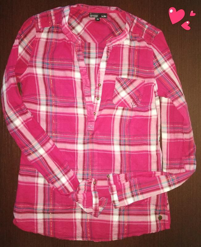 Красивая рубашка, блуза в клетку, молодежная одежда