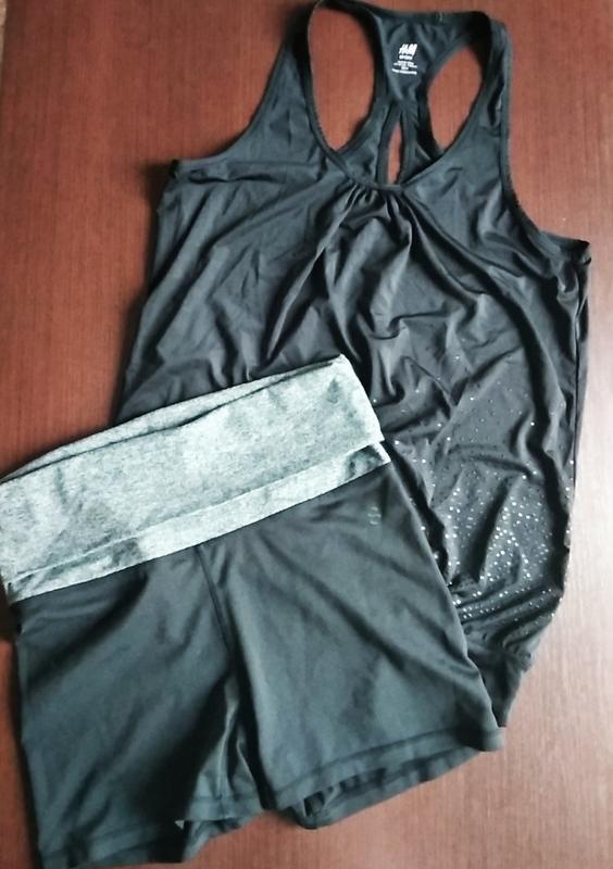 Комплект для спорта шорты майка, одежда для фитнеса