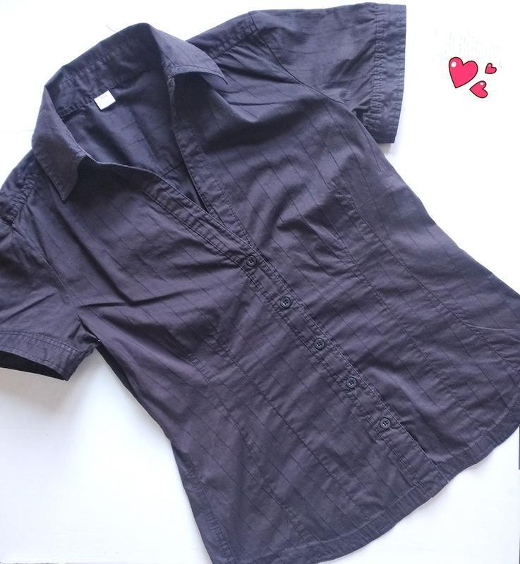 Рубашка с коротким рукавом, блуза в стиле кэжуал