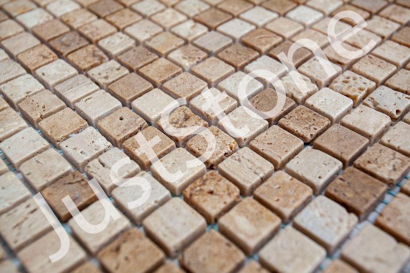 Мозаика из травертина Матовая МКР-4СВ (15х15) - Фото 2
