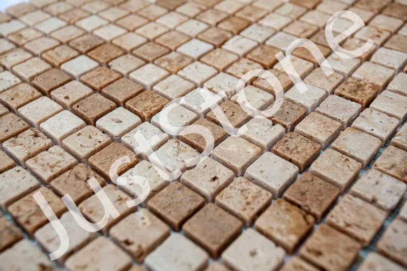 Мозаика из травертина Матовая МКР-4СВ (15х15) - Фото 4