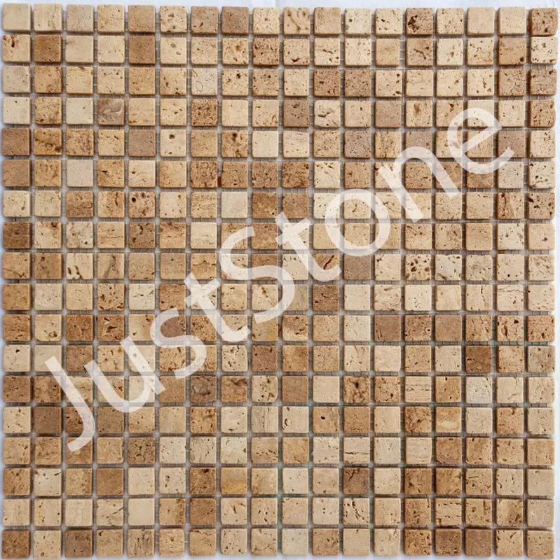Мозаика из травертина Матовая МКР-4СВ (15х15)