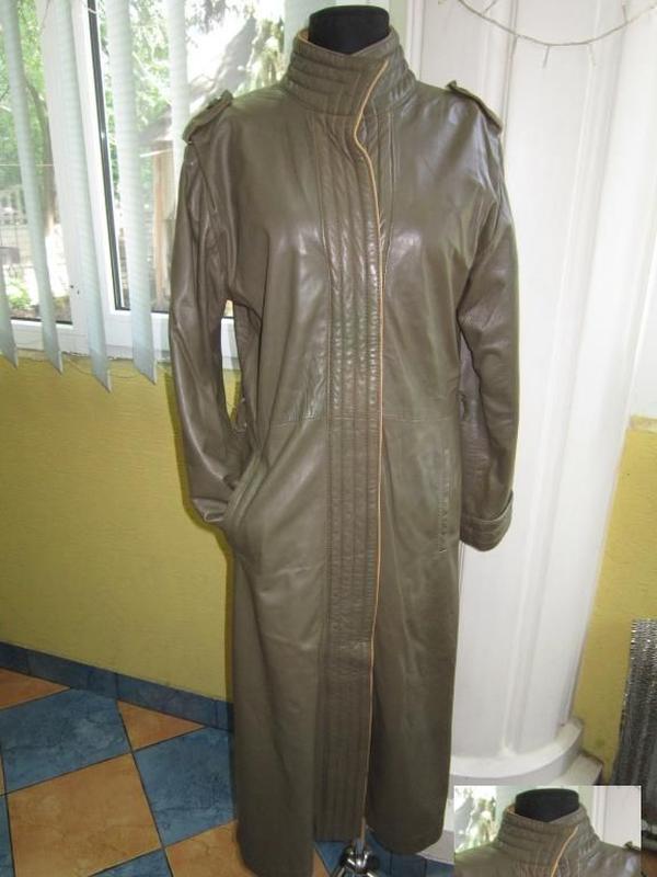 Женский кожаный плащ. лот 528