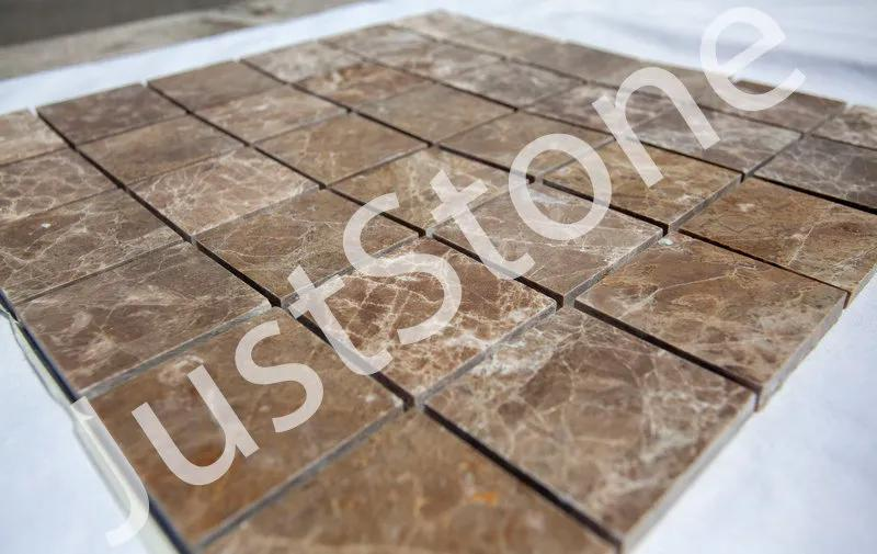 Коричневая Мраморная Мозаика Полированная МКР-3П (47x47) - Фото 2