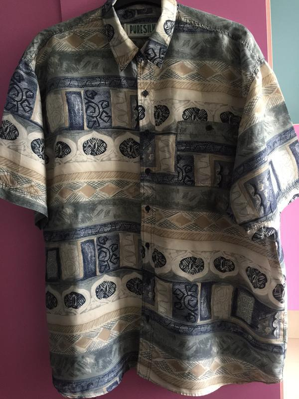 Стильная рубашка натуральный шелк