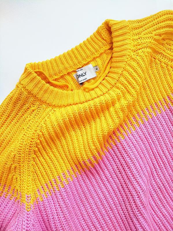 Лёгкий весенний свитер из хлопка - Фото 3