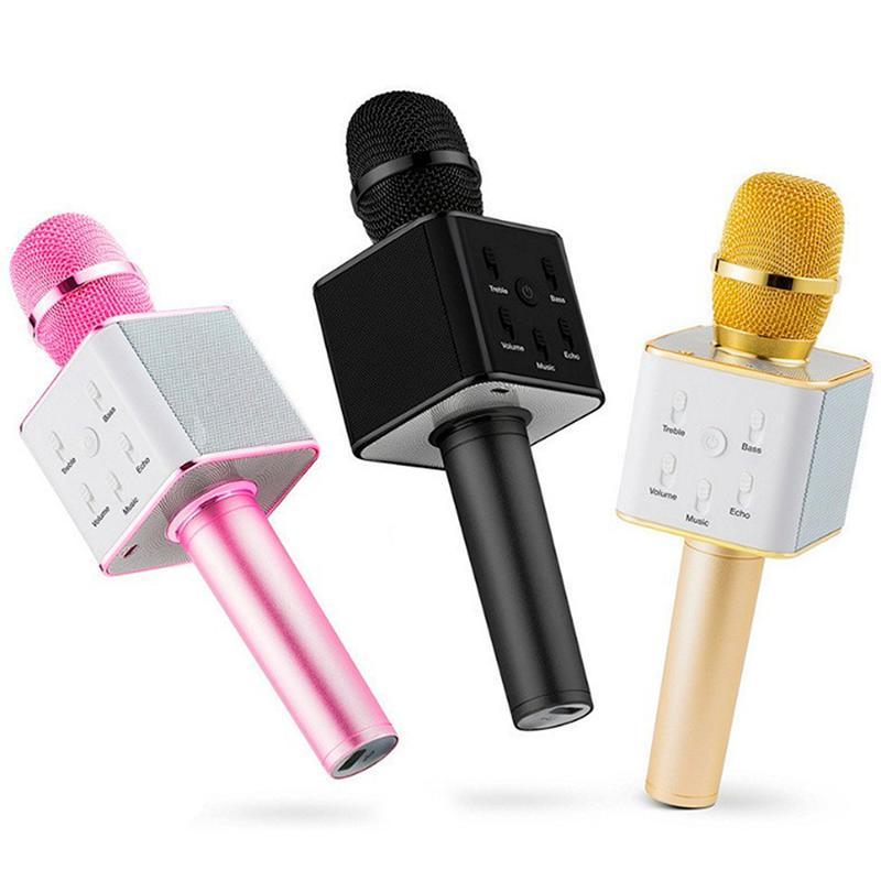 Bluetooth микрофон для караоке Q7 с чехлом - Фото 7