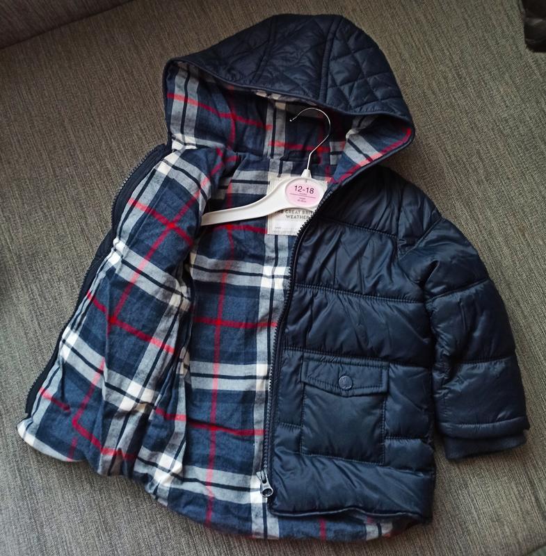 Стеганая курточка от george. размер 9-12,12-18 мес - Фото 5