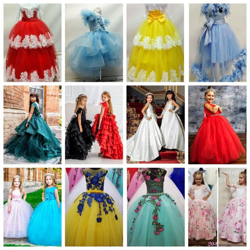 Платье бальное на девочку 5-7 лет, 7-10 лет, на выпускной платья.