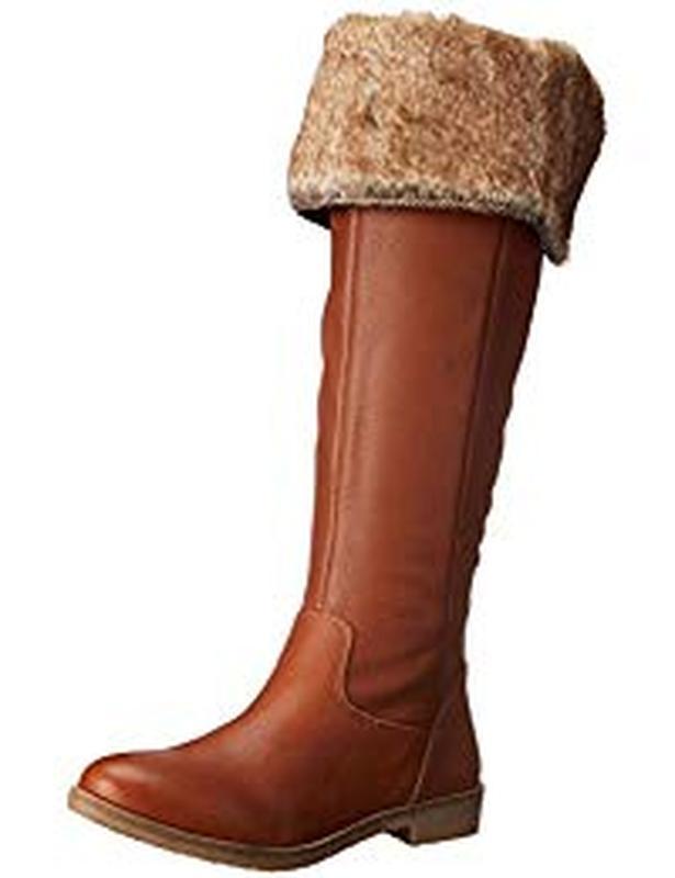 Кожаные сапоги-ботфорты lucky brand - Фото 3