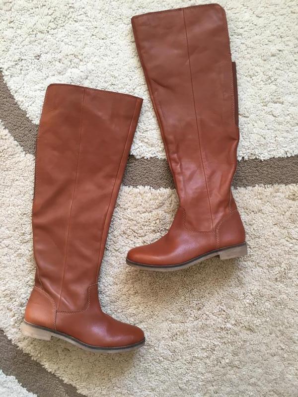 Кожаные сапоги-ботфорты lucky brand - Фото 4