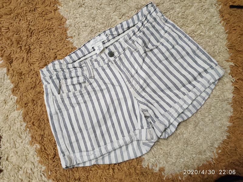 Брендовые джинсовые шорты h&m с высокой посадкой, с-m