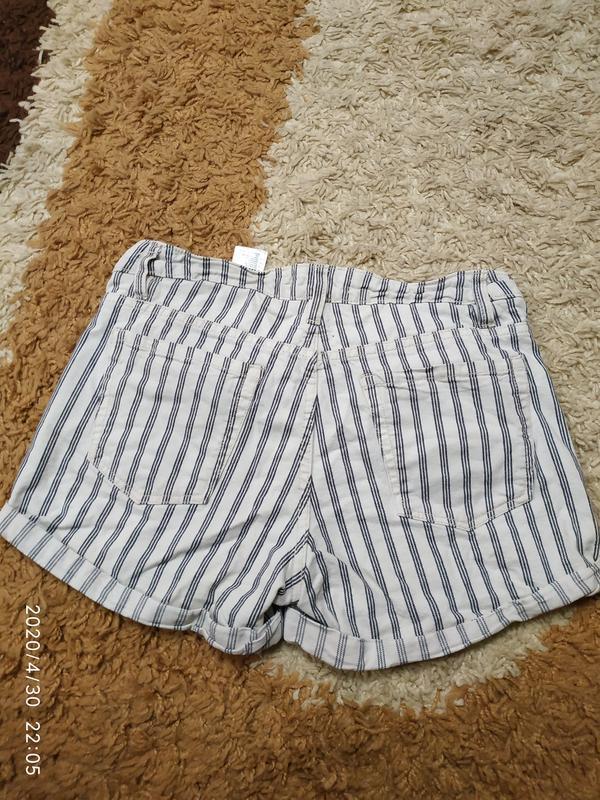 Брендовые джинсовые шорты h&m с высокой посадкой, с-m - Фото 3