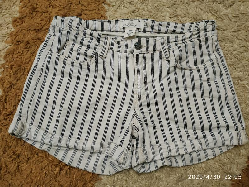 Брендовые джинсовые шорты h&m с высокой посадкой, с-m - Фото 8