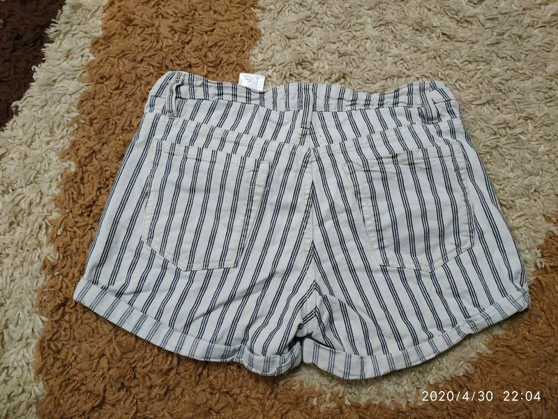 Брендовые джинсовые шорты h&m с высокой посадкой, с-m - Фото 9