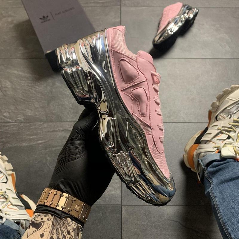 Adidas raf simons pink silver.