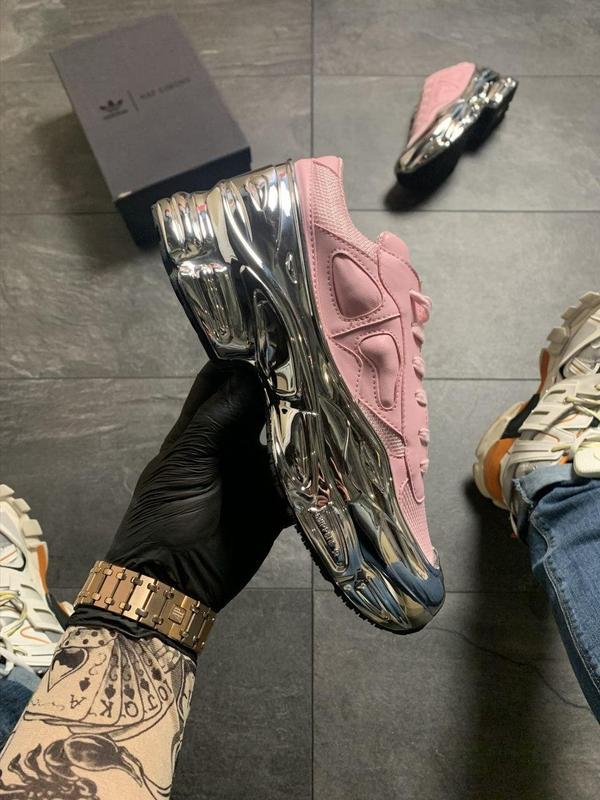 Adidas raf simons pink silver. - Фото 4