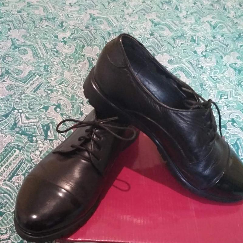 Туфли лоферы кожа - Фото 2