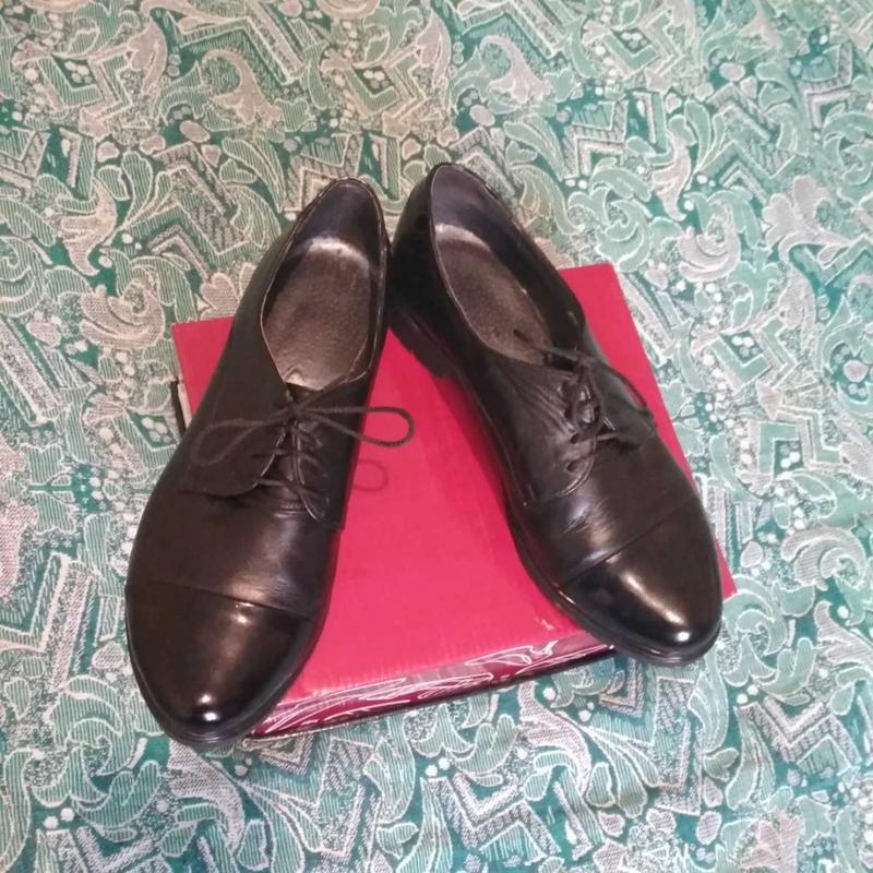 Туфли лоферы кожа - Фото 3