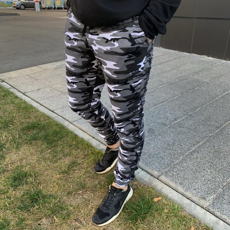 Мужские спортивные штаны камуфляж - Фото 3