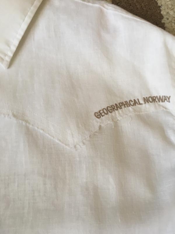 Рубашка geographical norway, лён с хлопком - Фото 2