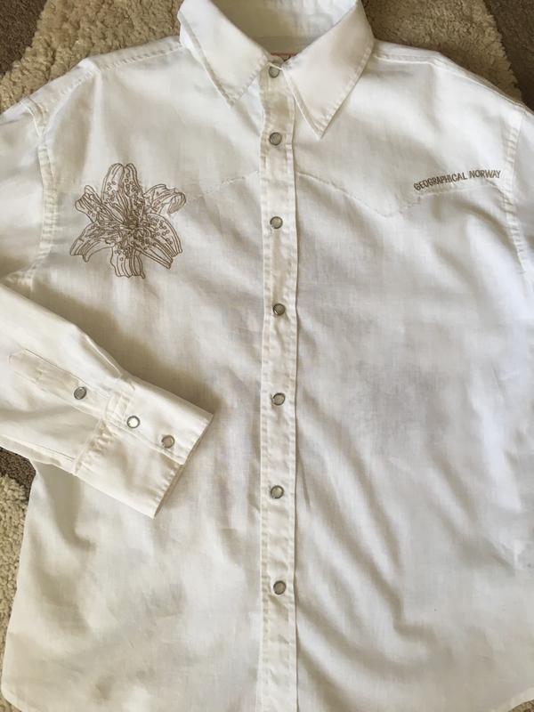 Рубашка geographical norway, лён с хлопком - Фото 5