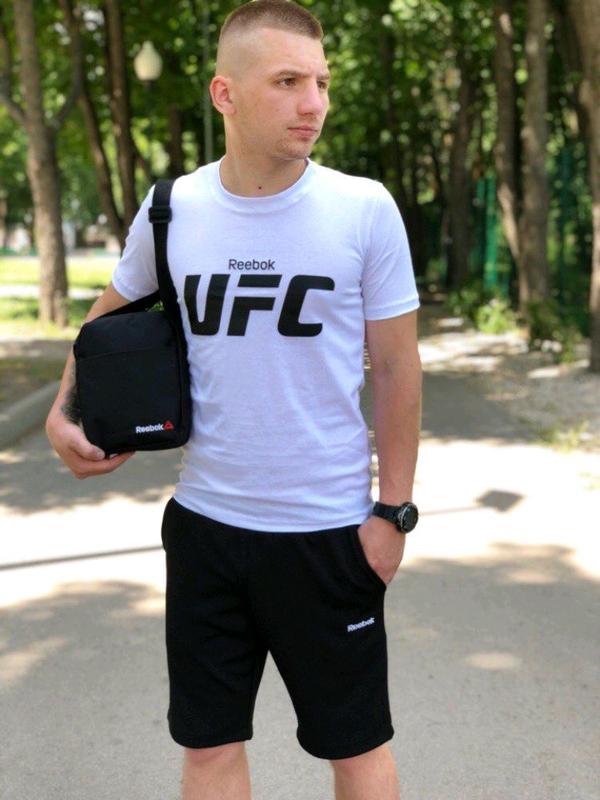 Футболка принт UFC  белая