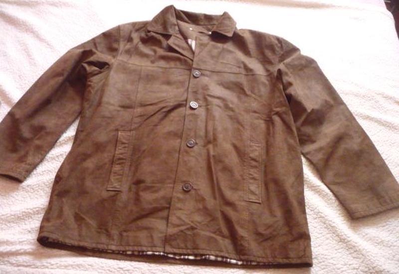 Большая лёгкая кожаная мужская куртка canda (c&a). лот 602