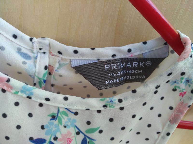 Блузка primark на 2 года - Фото 3