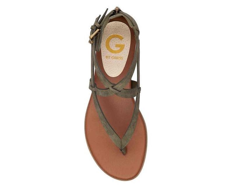 Оригинальные сандали - гладиаторы g by guess оливкового цвета