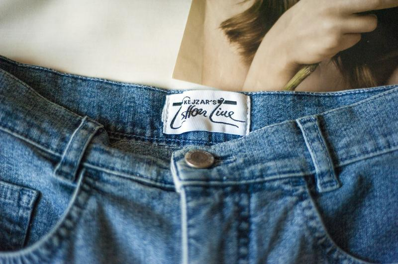 Стильнющие синие джинсовые капри брюки италия, размер m - Фото 5