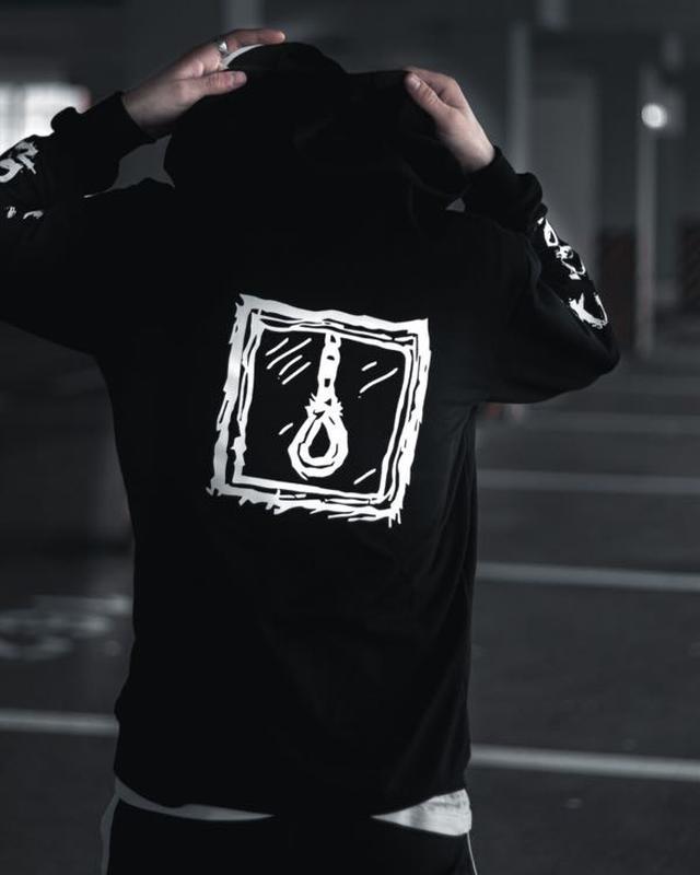 Мужской спортивный костюм чёрный крутой спортивный костюм - Фото 4