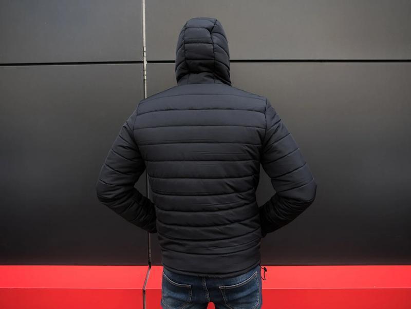 Мужская классическая зимняя куртка pronto black - Фото 7