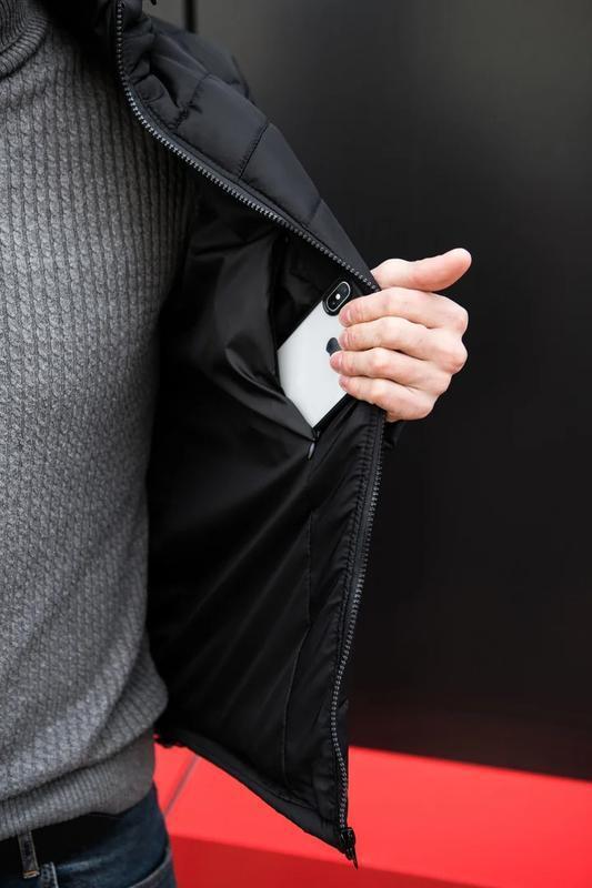 Мужская классическая зимняя куртка pronto black - Фото 8
